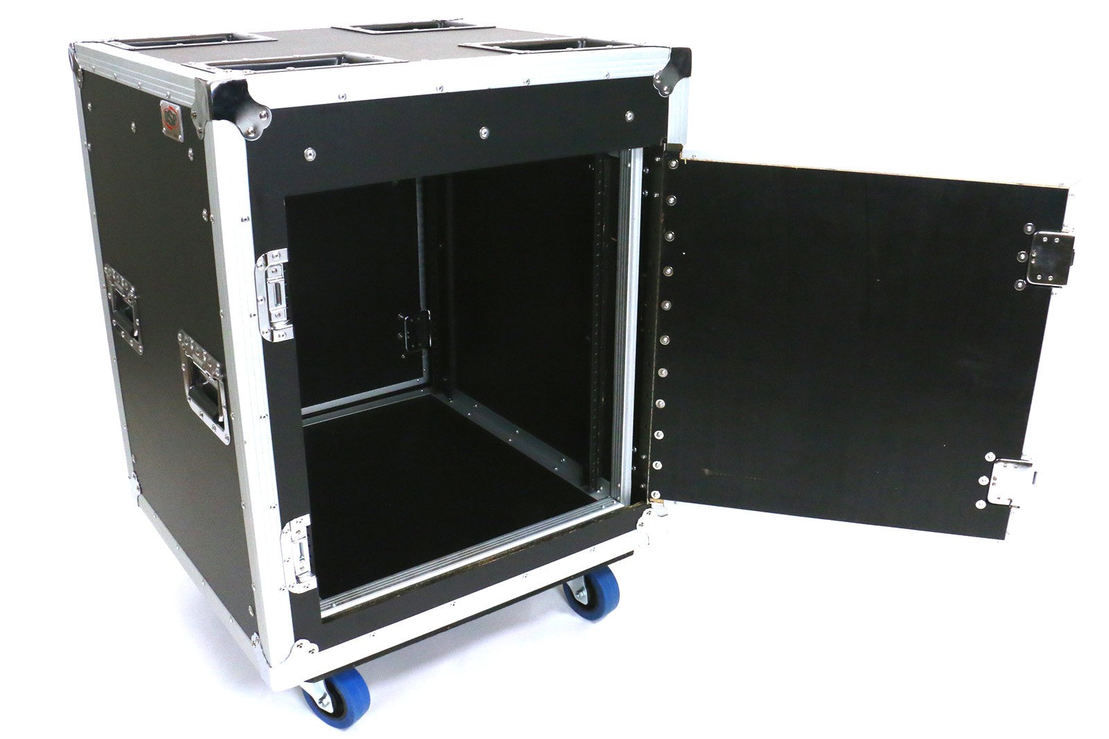 "OSP TR12U-20-SR-PD Tour Ready 12 Space 20"" Deep Shock Rack w/Pocket Doors"