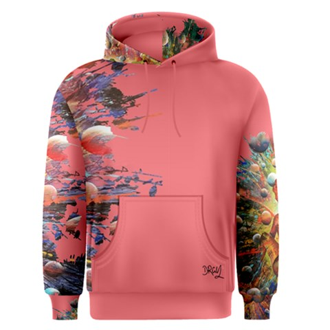 CREATION DESIGN PINK MEN'S PULLOVER HOODIE