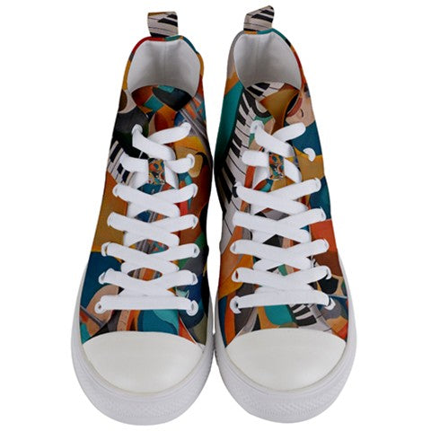 We Vibe Women's Women's Mid Top Canvas Sneakers
