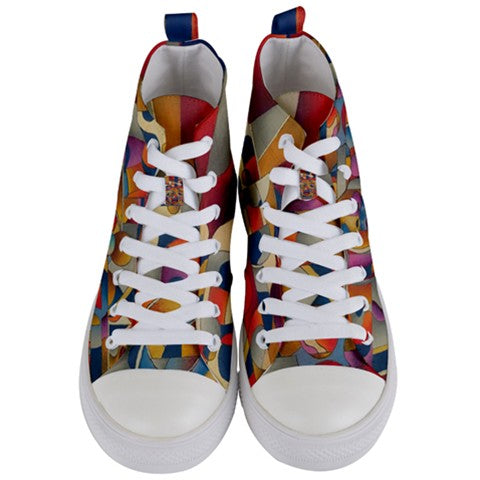 Blind to Haters Women's Women's Mid Top Canvas Sneakers