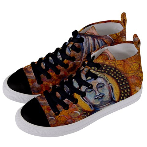 Buddha Women's Mid Top Canvas Sneakers