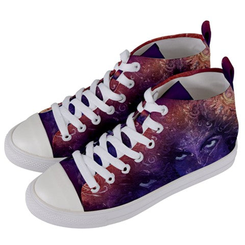 The Purple One 2 Women's High Top Canvas Sneakers
