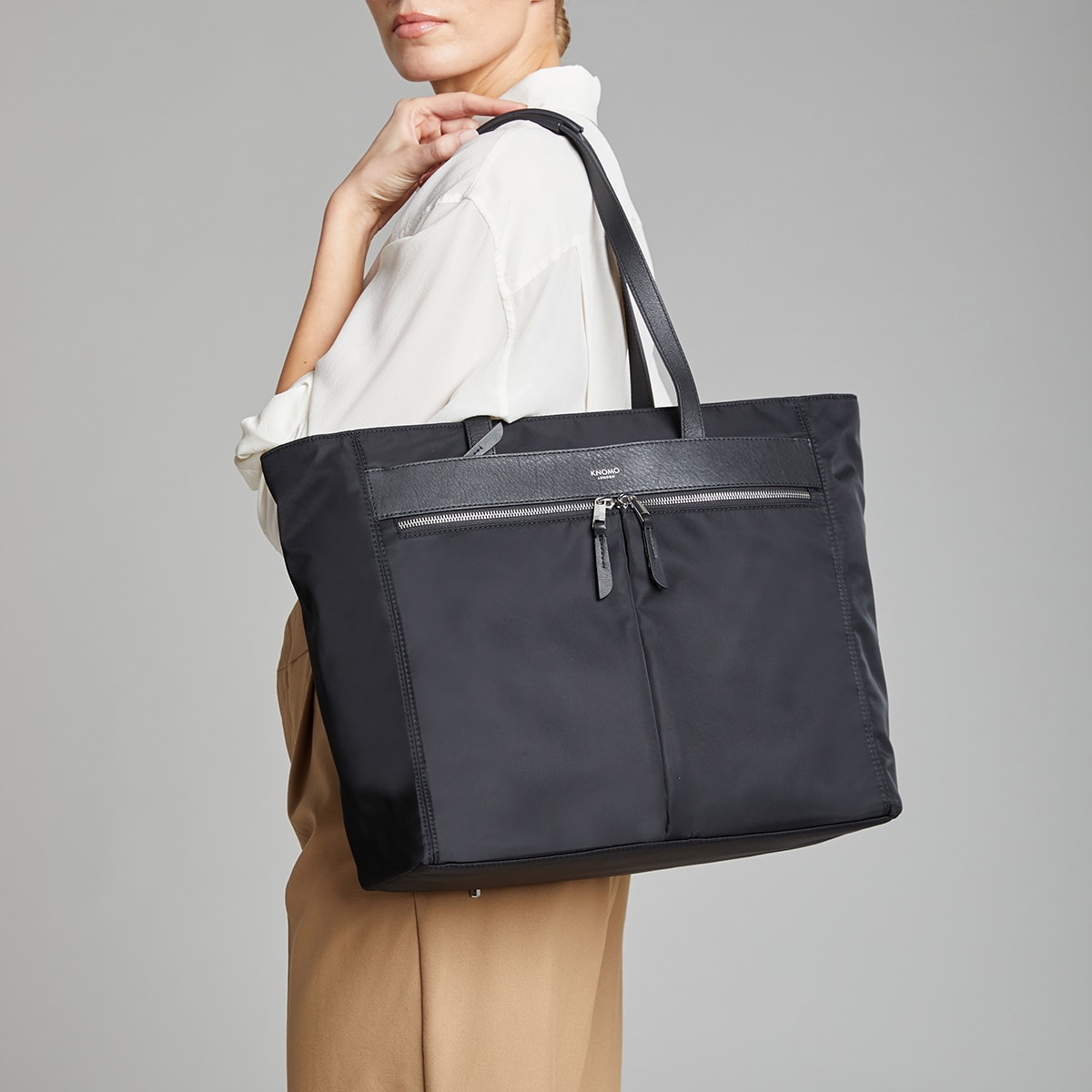 "Grosvenor Place Laptop Tote Bag - 15"" -  Black 