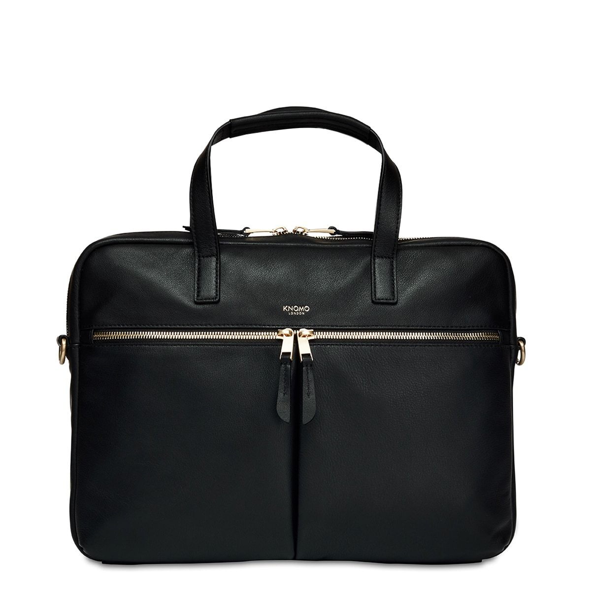 "Hanover Leather Laptop Briefcase - 14"" -  14"" 
