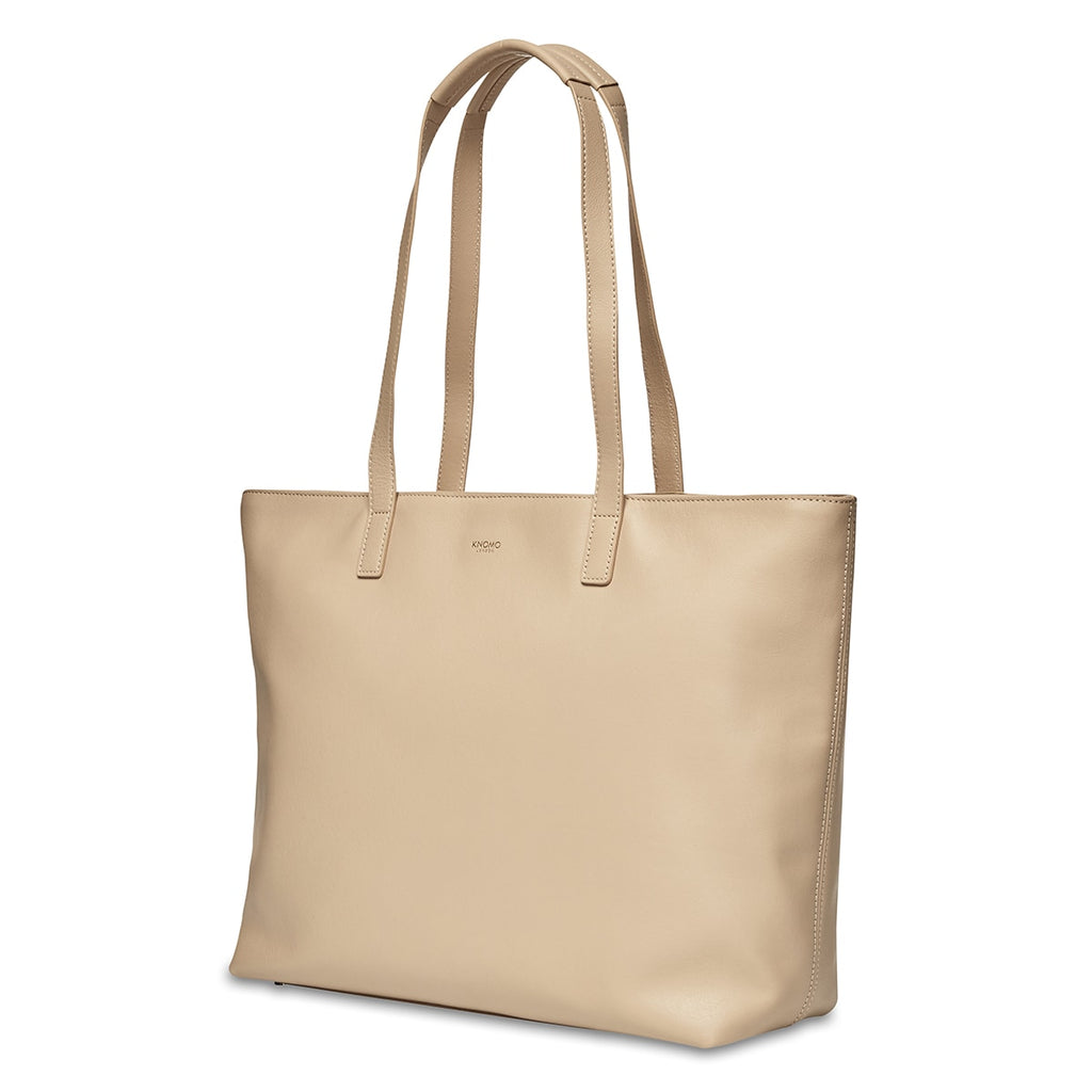 "Maddox Leather Laptop Tote Bag - 15"" -  Trench Beige"