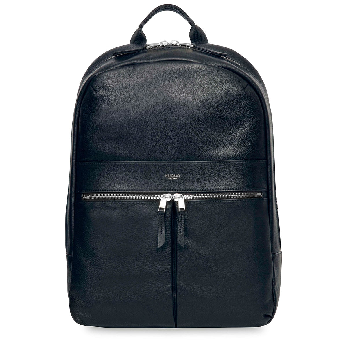 "Beaux Leather Laptop Backpack - 14"" -  Dark Navy 