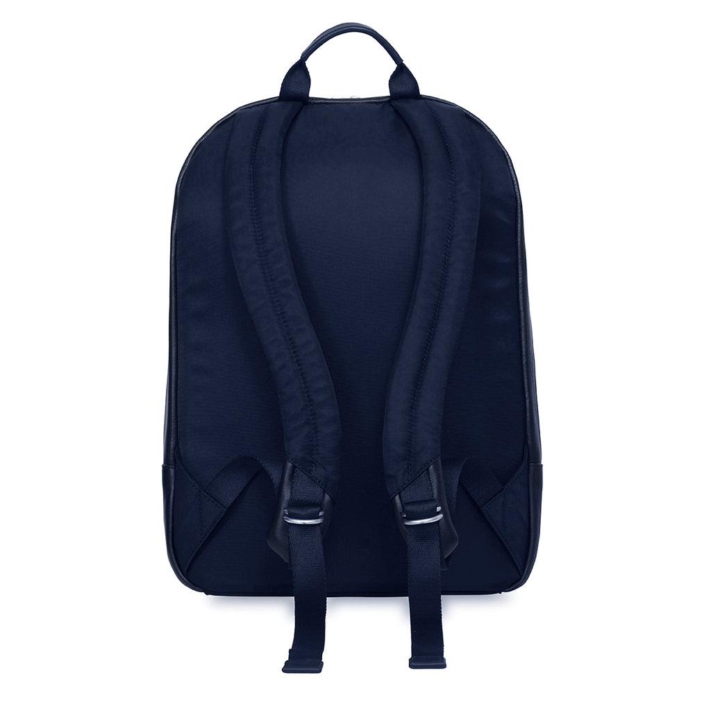 "Beaux Leather Laptop Backpack - 14"" -  Dark Navy"