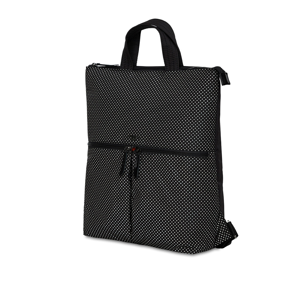 "Reykjavik Laptop Tote Backpack - 15"" -  Black Reflective 