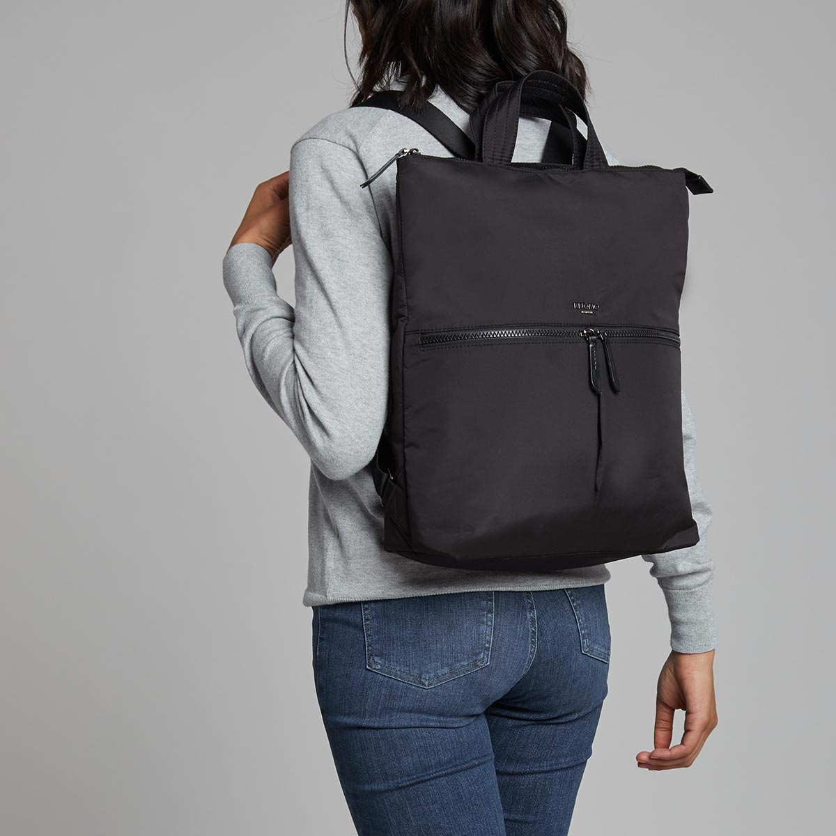 "Reykjavik Laptop Tote Backpack - 15"" -  Black 