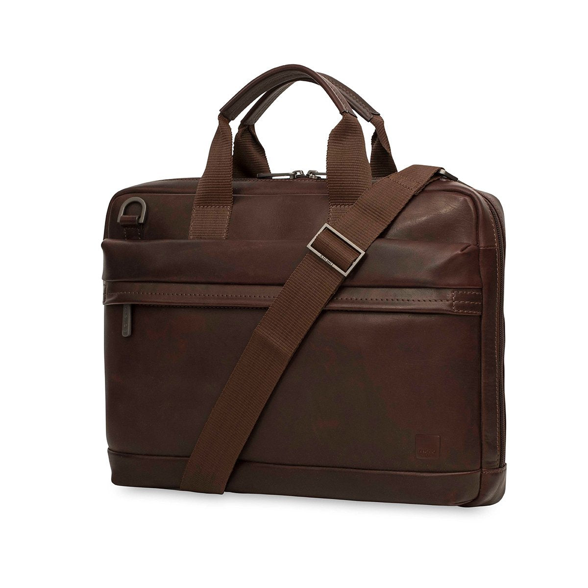 "Foster Leather Laptop Briefcase - 14"" -  Brown 