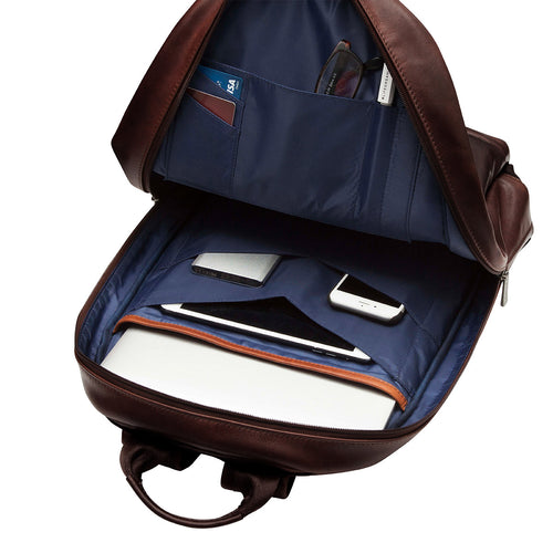 "Leather Laptop Backpack - 15"" - Albion 