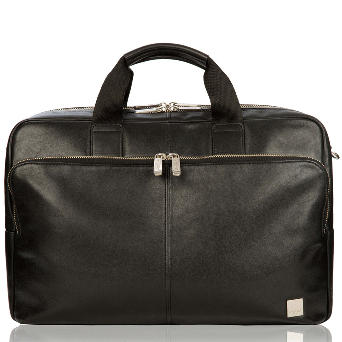 "Amesbury Leather Laptop Briefcase - 15"" -  Black 