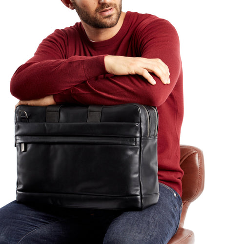 "Leather Laptop Briefcase - 15"" - Roscoe 