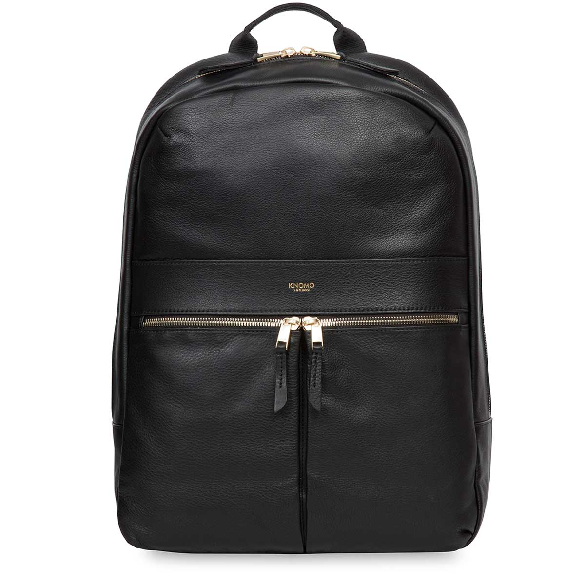 "Beaux Leather Laptop Backpack - 14"" -  Black 