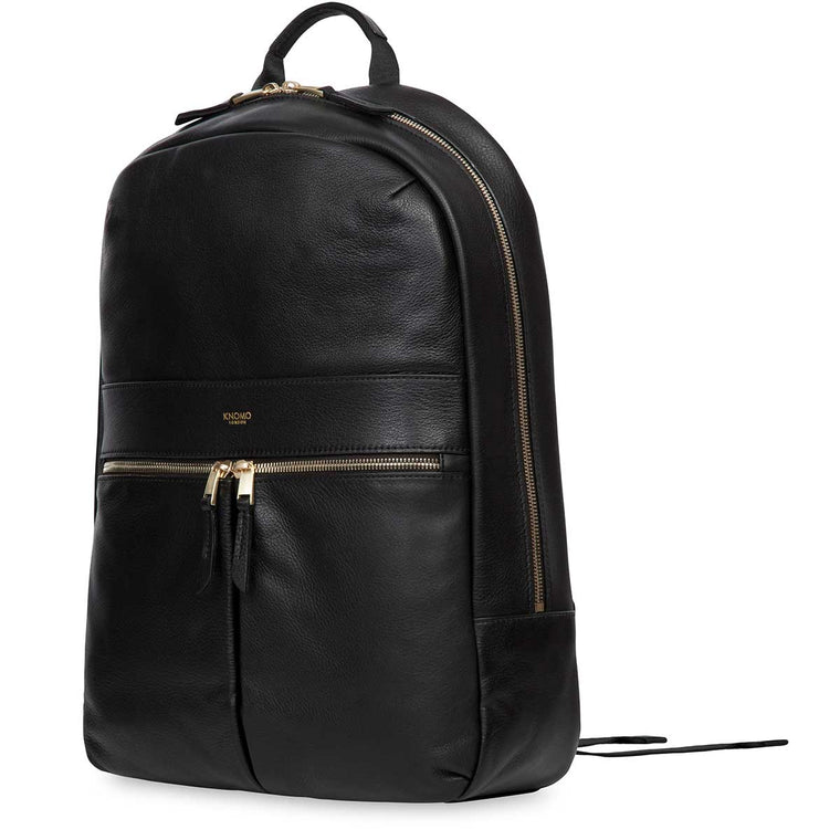 Leather Laptop Backpack - 14