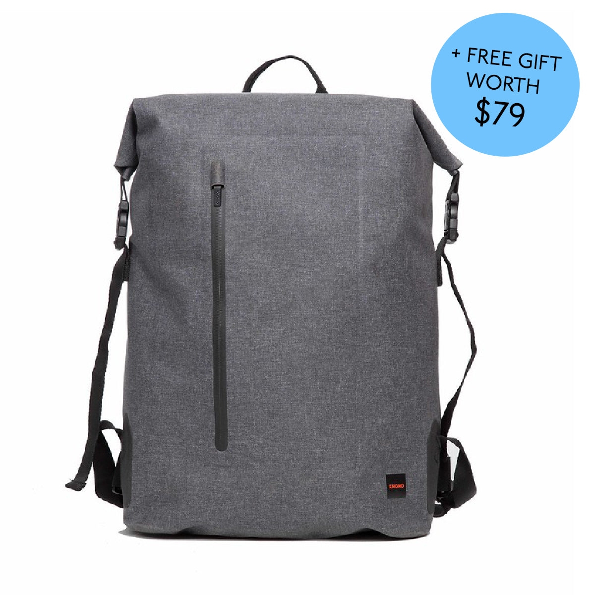 Cromwell with 10K mAh Battery Cromwell Backpack 15.6 - Grey with 10K mAh Battery -  Grey with 10K mAh Battery | KNOMO