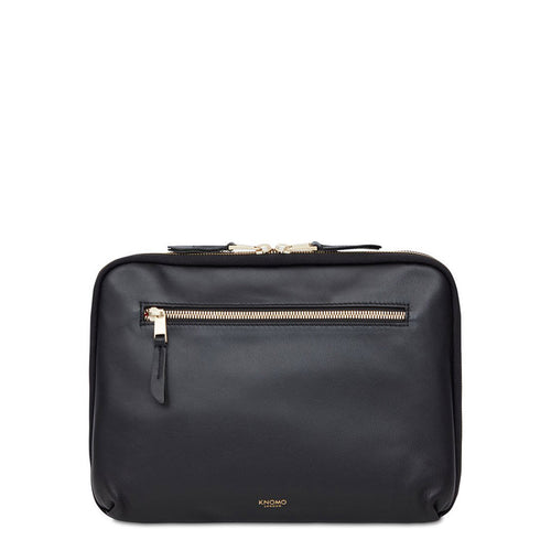 "KNOMO Mayfair Luxe Knomad Organizer - 10.5"" Leather Tech Organizer - 10.5"" From Front 