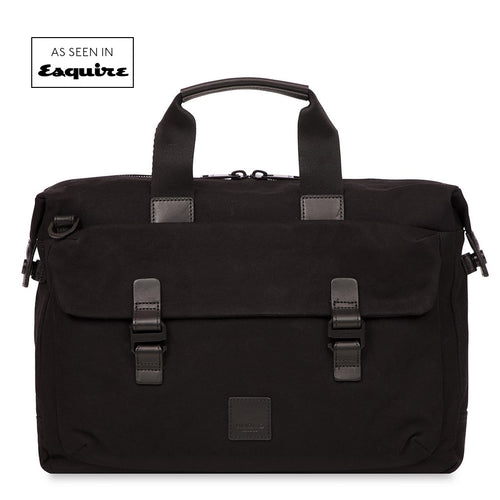 "KNOMO Tournay Laptop Briefcase - 15"" (Wax Canvas) From Front 