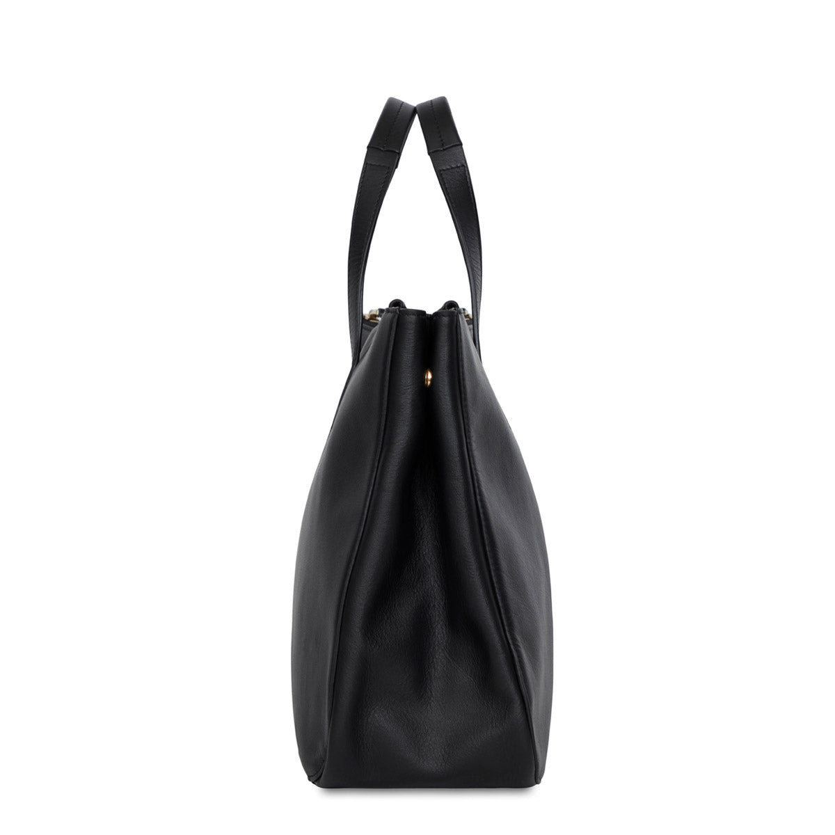 "Derby Leather Tote 13"" -  Black 