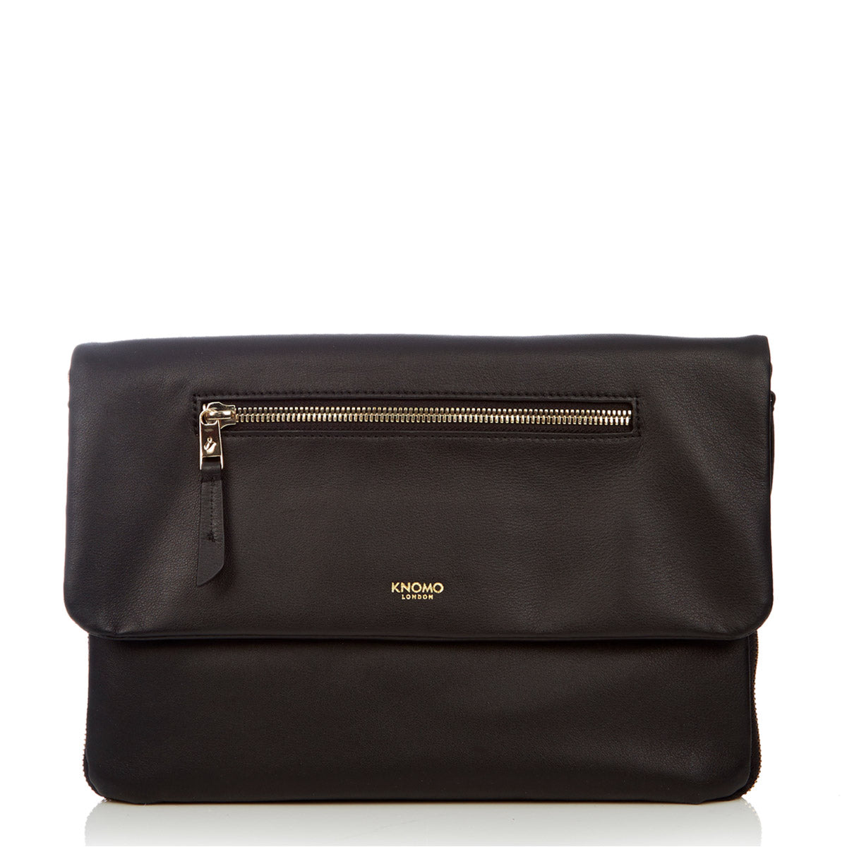 Leather Cross-Body Clutch Bag - 10""