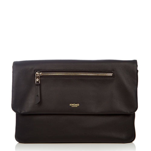 "Leather Cross-Body Clutch Bag - 10"" - Leather Elektronista 
