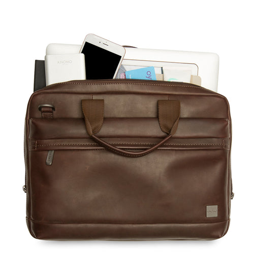 "KNOMO Foster Leather Laptop Briefcase - 14"" Main Image 