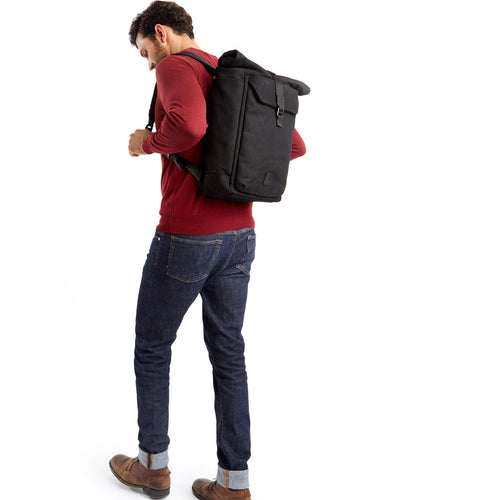 "KNOMO Novello Roll-Top Laptop Backpack - 15"" (Wax Canvas) Main Image 