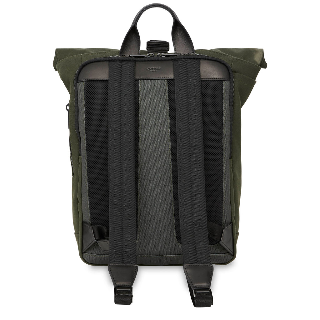"Novello Roll-Top Laptop Backpack - 15"" -  Dark Green 