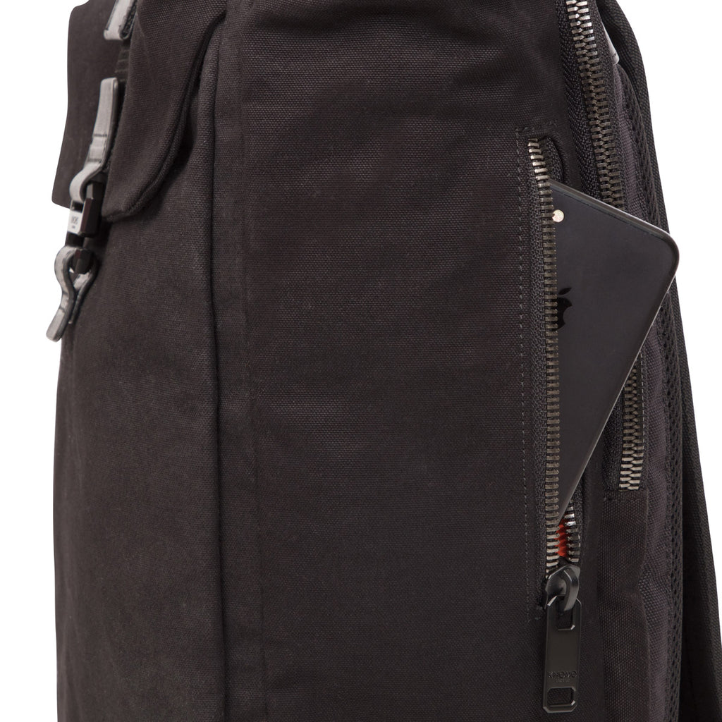 "Novello Roll-Top Laptop Backpack - 15"" -  Black"