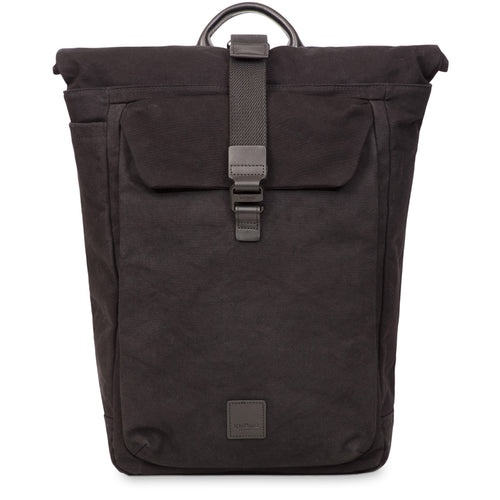 "KNOMO Novello Roll-Top Laptop Backpack - 15"" (Wax Canvas) From Front 