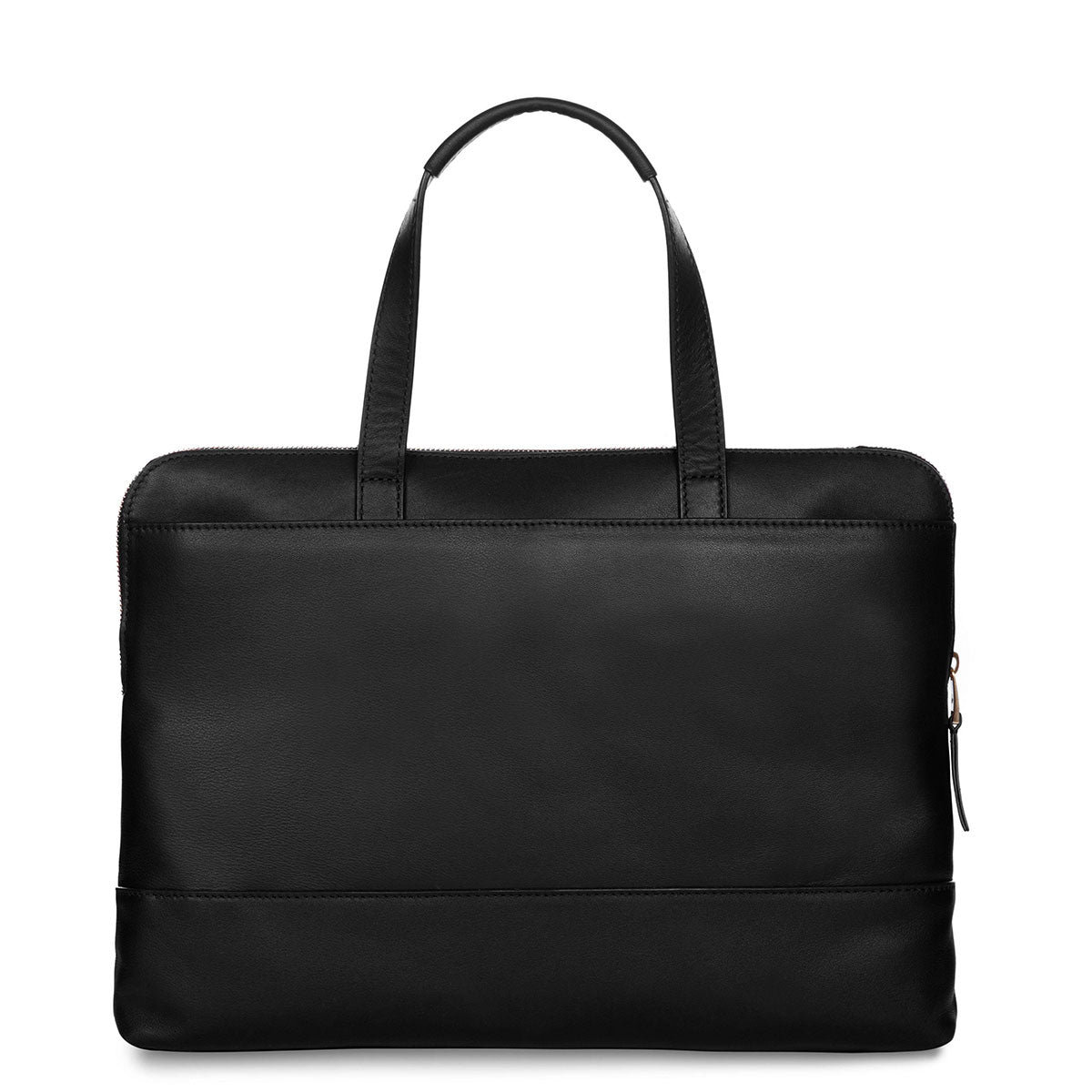 "Reeves Leather Laptop Briefcase - 14"" -  Black 