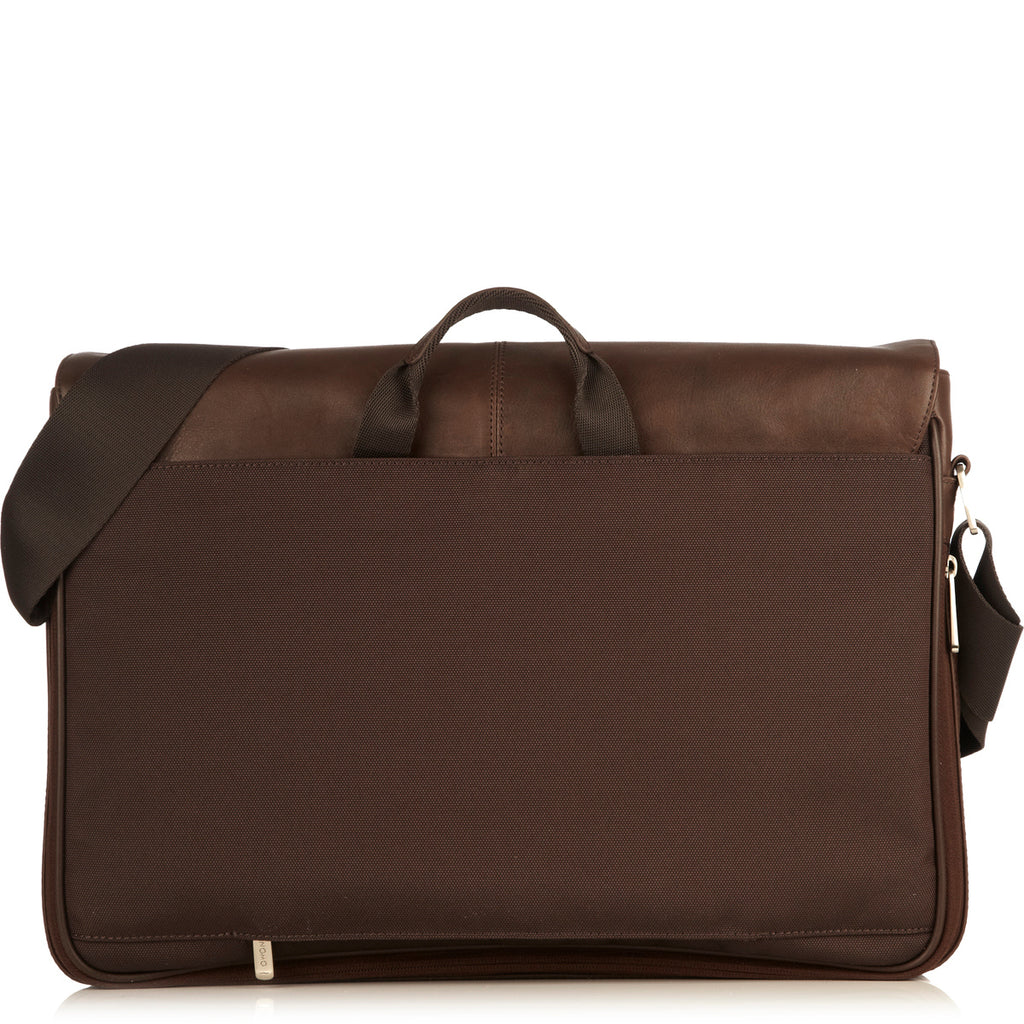 "Bungo Leather Laptop Messenger Bag - 15.6"" -  Brown"