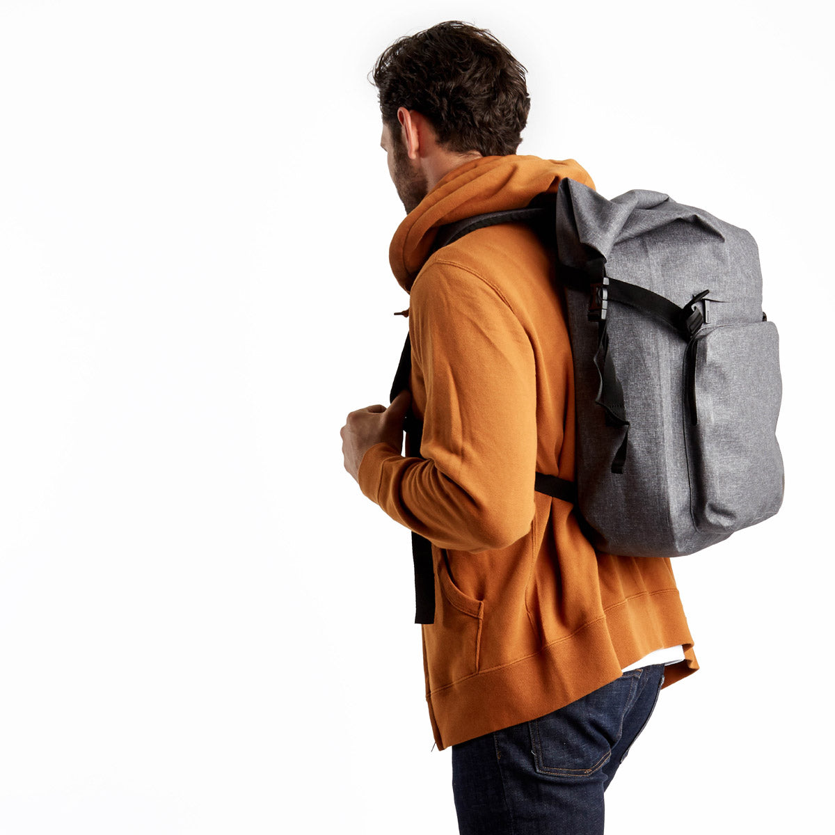 "Hamilton Water Resistant Roll-Top Laptop Backpack - 14"" -  Grey 