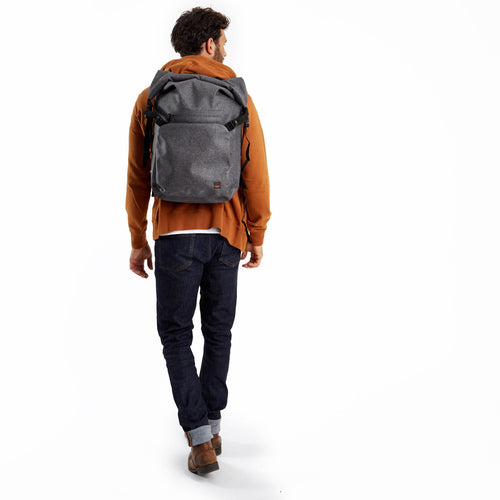 "Water-Resistant Roll-Top Laptop Backpack - 14"" - Hamilton 