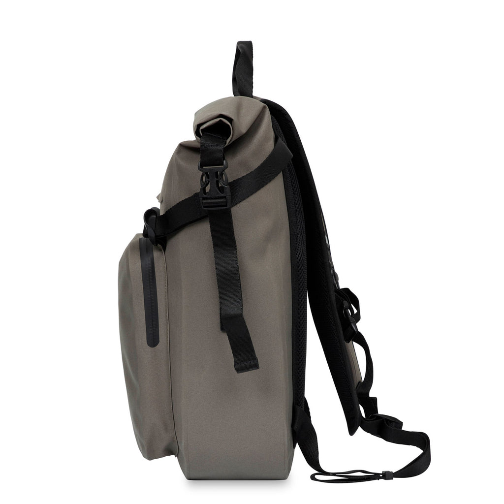 "Hamilton Water Resistant Roll-Top Laptop Backpack - 14"" -  Khaki"