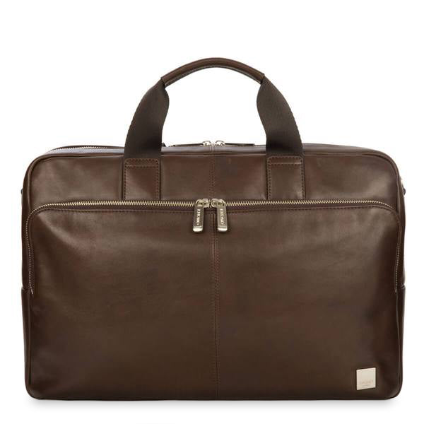 "Amesbury Leather Laptop Briefcase - 15"" -  Brown 