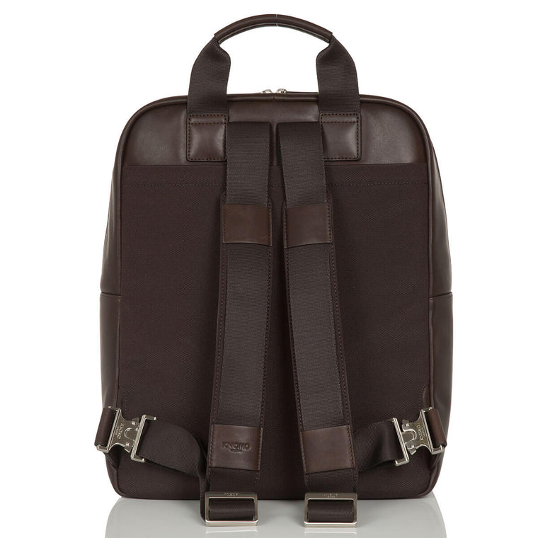 Leather Laptop Backpack - 15