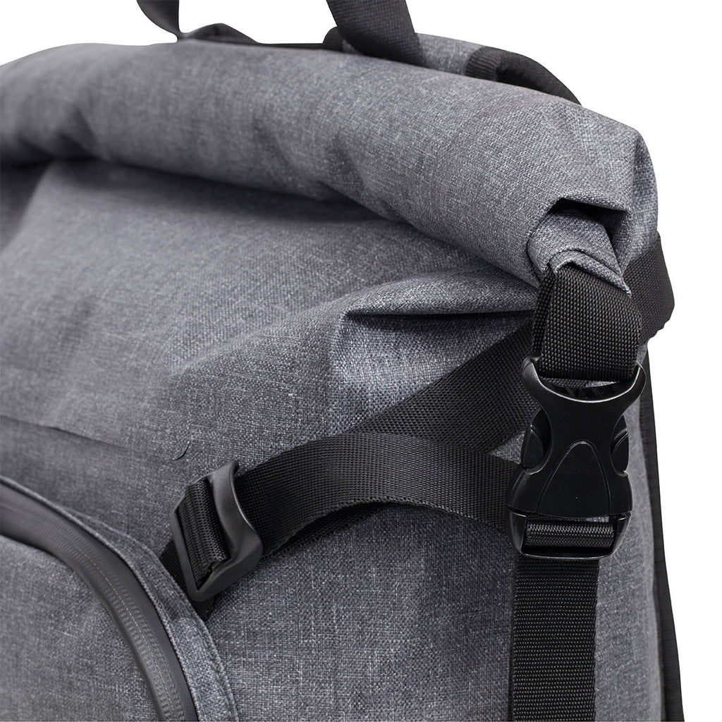 "Hamilton Water Resistant Roll-Top Laptop Backpack - 14"" -  Grey"