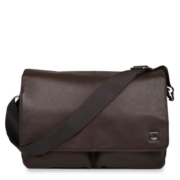 Leather Laptop Messenger Bag - 15