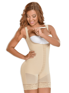 Fajas MYD 0065 Mid Thigh Bodysuit Shaper for Women / Powernet