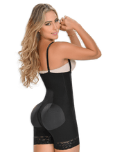 Fajas MYD 0066 Strapless Mid Thigh Body Shaper for Women / Powernet