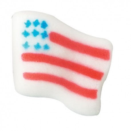 Small American Flag Dec-Ons (12 pcs)