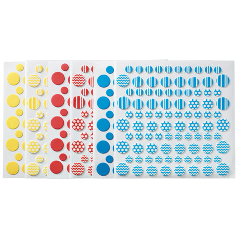 Printed Primary DecoShapes® Dots Fondant