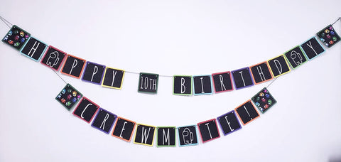 Among Us Inspired Birthday Banner AMID114