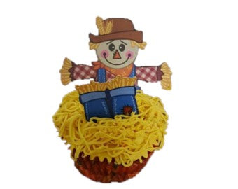 12ct. Scarecrow Cupcake Toppers