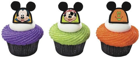 12ct. Mickey Mouse Halloween Cupcake Rings