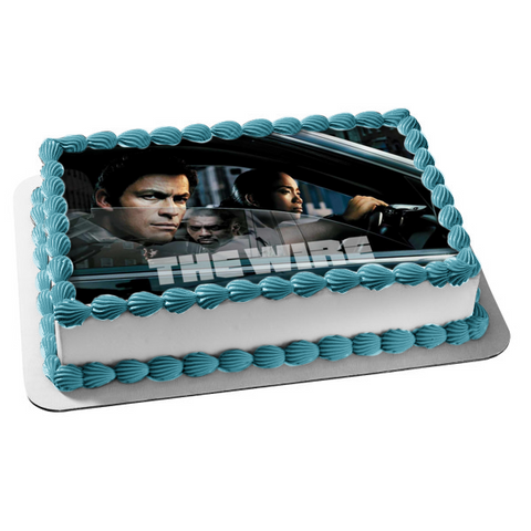 The Wire Jimmy McNulty Stringer Bell In a Car Edible Cake Topper Image ABPID27093