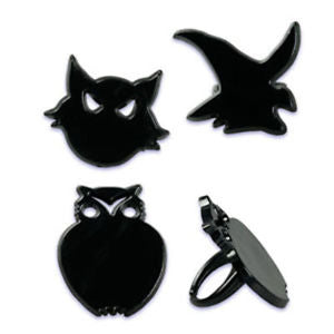 20ct. Black Cat, Owl, Witch Cupcake Rings
