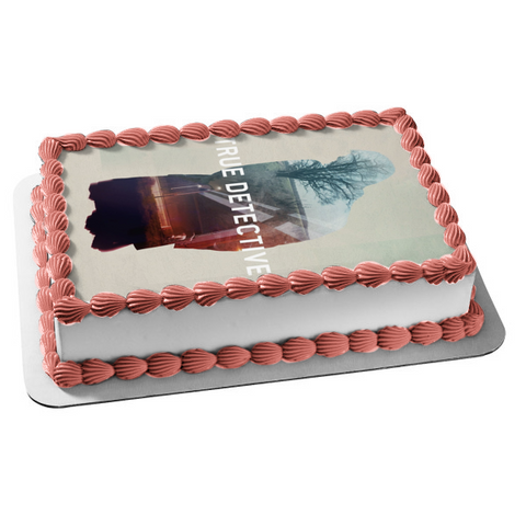 True Detective Man Silhouette Tree Field Edible Cake Topper Image ABPID27181