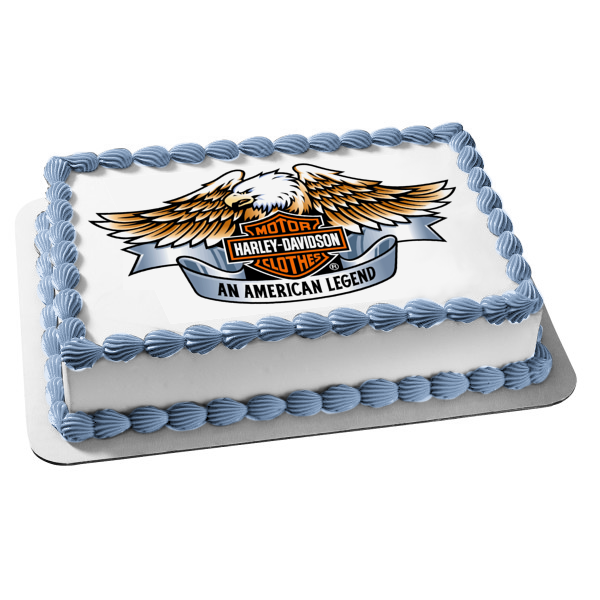 Harley Davidson Logo Eagle an American Legend Edible Cake Topper Image ABPID27289